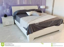 Box Spring Free Bed Frame by Beautiful Bedroom Purple And White Stock Photo Image 66509473