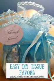 Easy Favors by Easy Diy Tissue Favors A On A Budget