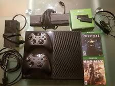 microsoft xbox one kinect bundle 500gb black console 7uv 00239 xone 500gb cnsl kinect bdl ref ebay