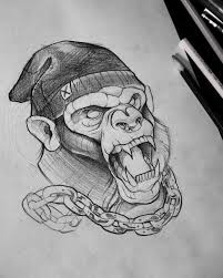 chained monkey tattoo design best tattoo ideas gallery