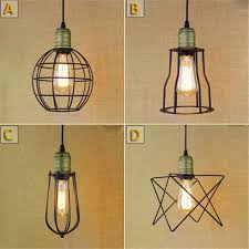 Antique Pendant Light Loft American Vintage Pendant Lights Iron L Holder E27 110 220v