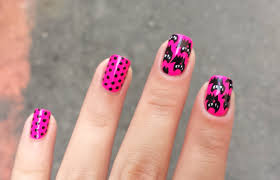 cute halloween nails neon pink black cat halloween nails u2013 jolene tay