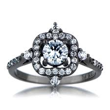 engagement rings utah emmeline s vintage style black engagement ring cubic zirconia