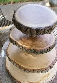 stand up and make a statement with rustic wedding cake stands for