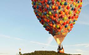 the balloon house from disney u0027s u0027up u0027 is flying over australia
