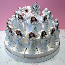 italian communion favors favor cake with holy communion bonbonniere for