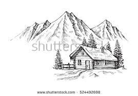 chalet in winter season vector download free vector art stock