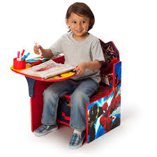 Play Table With Storage And Chairs Delta Children Spider Man Chair Desk With Storage Bin Walmart Com