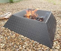 Home Made Firepit How To Make A Cool And Compact Pit From Half A Sheet Of Steel
