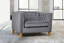Grey Button Sofa Velvet Sofas Ebay