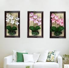 2015 creative modern plant simulation 3d wall stickers wood