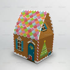 House Gift Gingerbread House Packaging Gift Box By Zeppelin Graphics