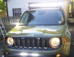 jeep light bar jeep renegade 2015 led lightbar install quiet 42