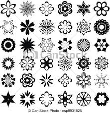 design clipart set of graphical flower elements set of flower design clipart