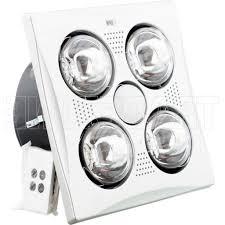 Bathroom Fan With Heat Lamp Hpm 3 In 1 Bathroom Heat Lamp Light Exhaust Fan Matt Silver With
