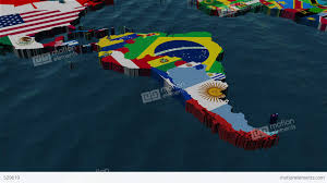 World Map South America by 3d World Map To South America With Clouds Stock Animation 529619
