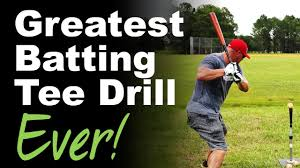 greatest batting tee drill ever youtube