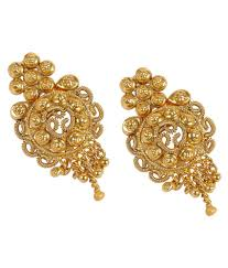 gold earrings for women much more exclusive south indian style fully gold plated earrings