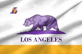 California State Flag Check Out These Awesome Lakers Nba State Flag Designs Silver