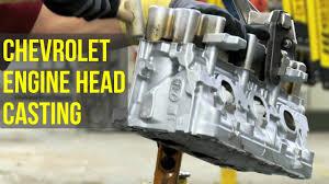 chevrolet engine head casting youtube