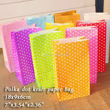 kraft christmas wrapping paper polka dot kraft paper bags gift bags party lolly favour wedding