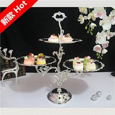 Plate Decorating Ideas For Desserts European Iron Cake Stand Pastry Dessert Dish Fruit Plate Metal