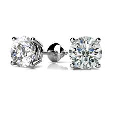 push back earrings 0 50 ct diamond solitaire stud earrings basket ser back