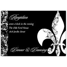 Reception Cards Fleur De Lis Swirls Reception Cards Paperstyle