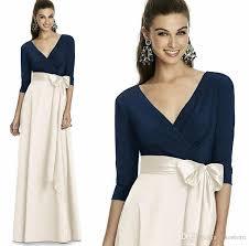 3 4 sleeve bridesmaid dresses navy blue white bridesmaid dresses 2017 length 3