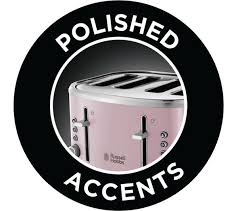 Buy Russell Hobbs Bubble 24412 4 Slice Toaster Pink Free