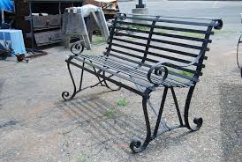 Antique Outdoor Benches For Sale by Vintage Metal Garden Bench At 1stdibs