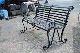 vintage metal garden bench at 1stdibs