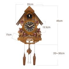 best wall clocks wall clocks wood 18 inch cuckoo chiming vintage painting