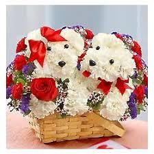 dog flower arrangement lucky in dog shaped floral arrangement findgift