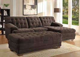 Microfiber Sectional Sofas Chocolate Microfiber Sectional Sofa