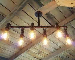 Industrial Rustic Lighting Rustic Industrial Lighting Chandelier Edison By Farmsteadironworks