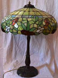 antique miller leaded stained glass lamp from josephsworld on ruby