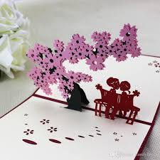 new handicraft 3d pop up greeting cards vinage birthday valentine