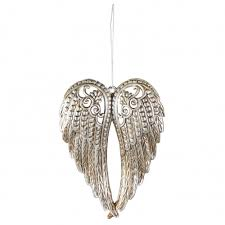 6 wings ornament antique silver ms149926 craftoutlet