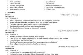 Hair Stylist Resume Samples by Resume Example Beginner Stylist Resume Sample Hair Stylist Resume