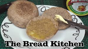 wholewheat english muffins recipe in the bread kitchen youtube