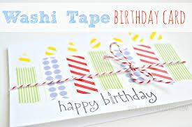 diy birthday card using washi tape