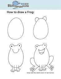tadpole coloring page blue tadpole studio step by step instructions for drawing for