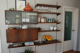 Kitchen Bookcase Ideas by Cabinets U0026 Storages Brown Wooden Floating Open Kitchen Shelves