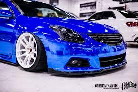 nissan altima coupe gold rims nissan altima coupe in blue chrome phenomenalvinyl
