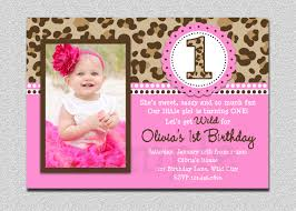 Cards For Birthday Invitation Leopard Birthday Invitation 1st Birthday Party Invitation