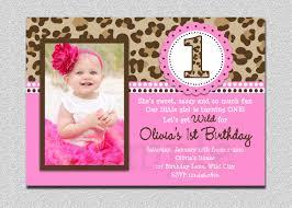 Birth Day Invitation Card Leopard Birthday Invitation 1st Birthday Party Invitation