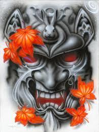 japanese samurai mask designs design ideas