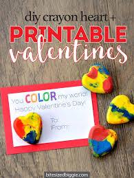 crayon valentines easy diy crayon free printable bite sized biggie