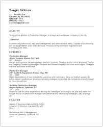 resume objective exles for accounting manager resume here are production manager resume production manager resume pin